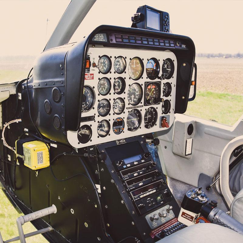 Bell 206 Cockpit